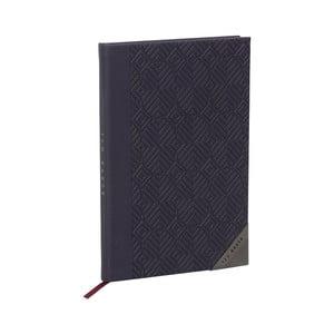Tmavě modrý zápisník Ted Baker Cadet, 192 stránek