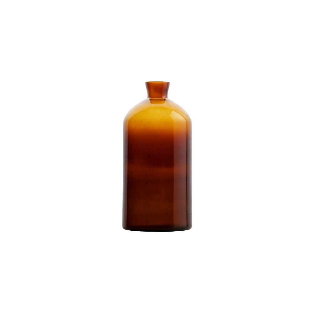 Fotografie Tmavě oranžová skleněná váza De Eekhoorn Chemistry, výška40cm