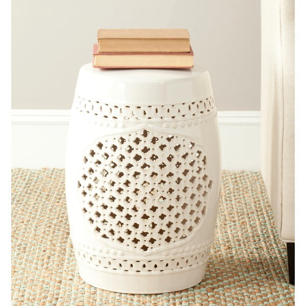 Krémový keramický stolek Safavieh Marbella