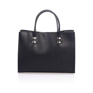 Černá kožená kabelka Massimo Castelli Hecuba