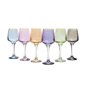 Set 6 pahare colorate pentru vin Mezzo Rainbow, 330 ml