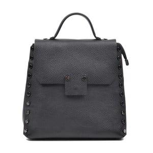 Černý kožený batoh Mangotti Luisa