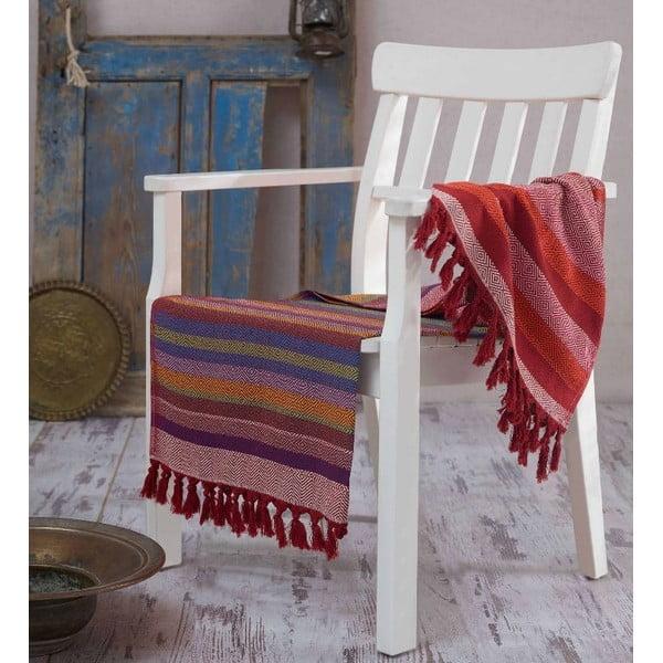 Hammam osuška Renkli Claret Red, 100x180 cm