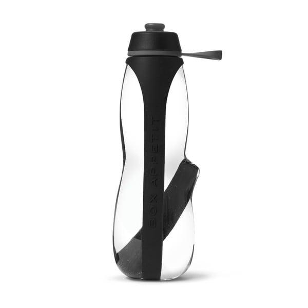Sticlă sport cu filtru și cărbune binchotan Black + Blum Eau Good Duo, 700 ml, negru