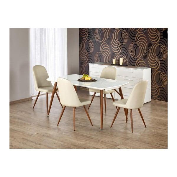 Rozkládací jídelní stůl s detailem v dekoru ořechového dřeva Halmar Richard, délka150-190cm