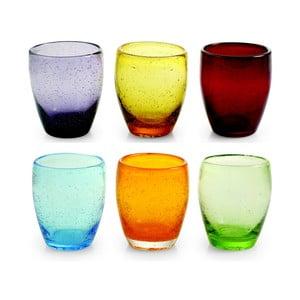 Sada skleniček Rainbow, 6 ks