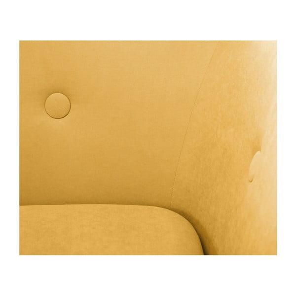 Canapea cu șezlong pe partea dreaptă Scandi by Stella Cadente Maison, galben muștar