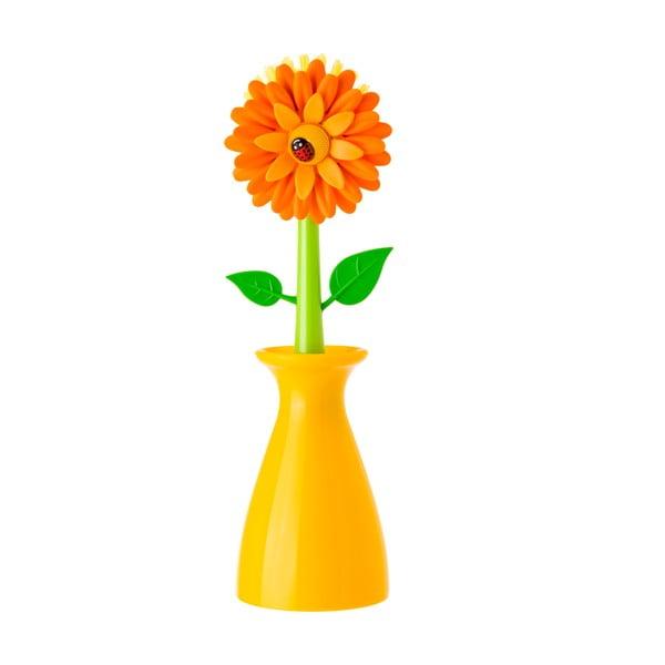 Kartáč na nádobí Vigar Yellow Flower