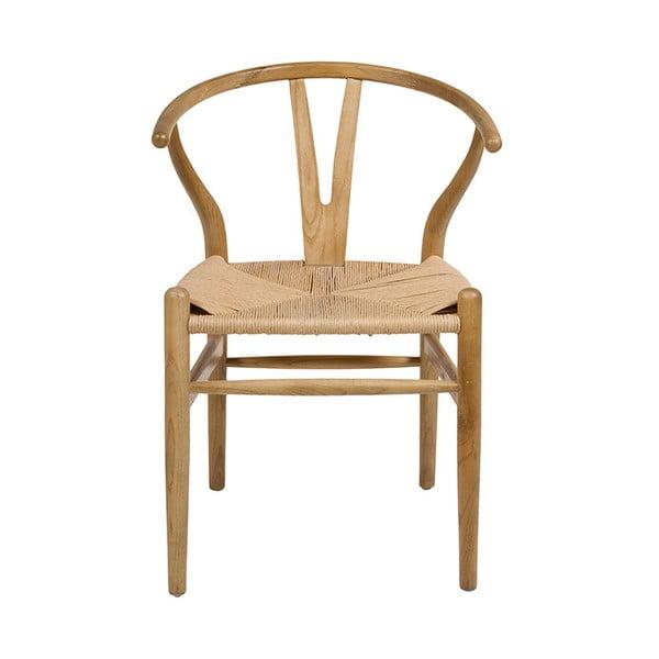 Jídelní židle z jilmového dřeva Santiago Pons Natural