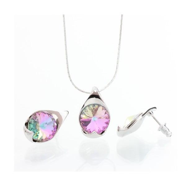 Set náhrdelníku a náušnic Laura Bruni Multi Pink