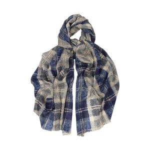 Šátek z vlny s příměsí hedvábí Hogarth Bannockbane, 200x70cm