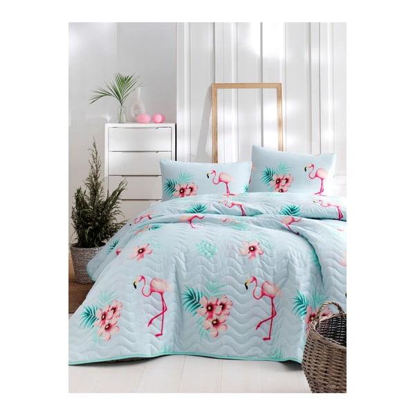 Set cuvertură de pat și față de pernă din bumbac Lura Parejo, 160 x 220 cm
