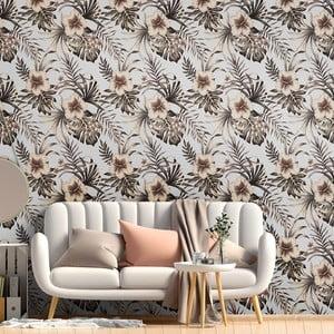 Dekorativní samolepka na zeď Ambiance Flowers, 60 x60 cm