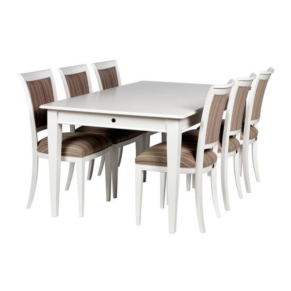 Bílý rozkládací jídelní stůl Folke Amadeus, délka180cm