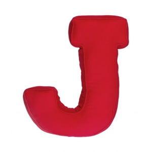 Látkový polštář J, červený