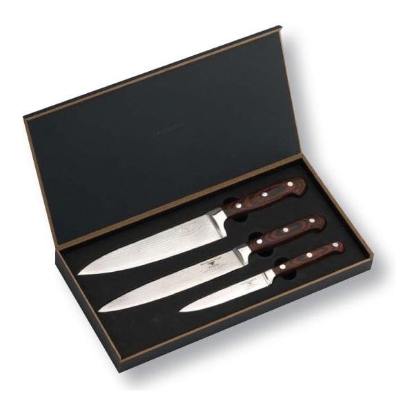 Sada nožů Damascus, 3 ks, univerzální, na porcování, kuchyňský