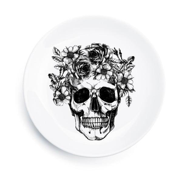 Porcelánový talíř Skull, 25 cm