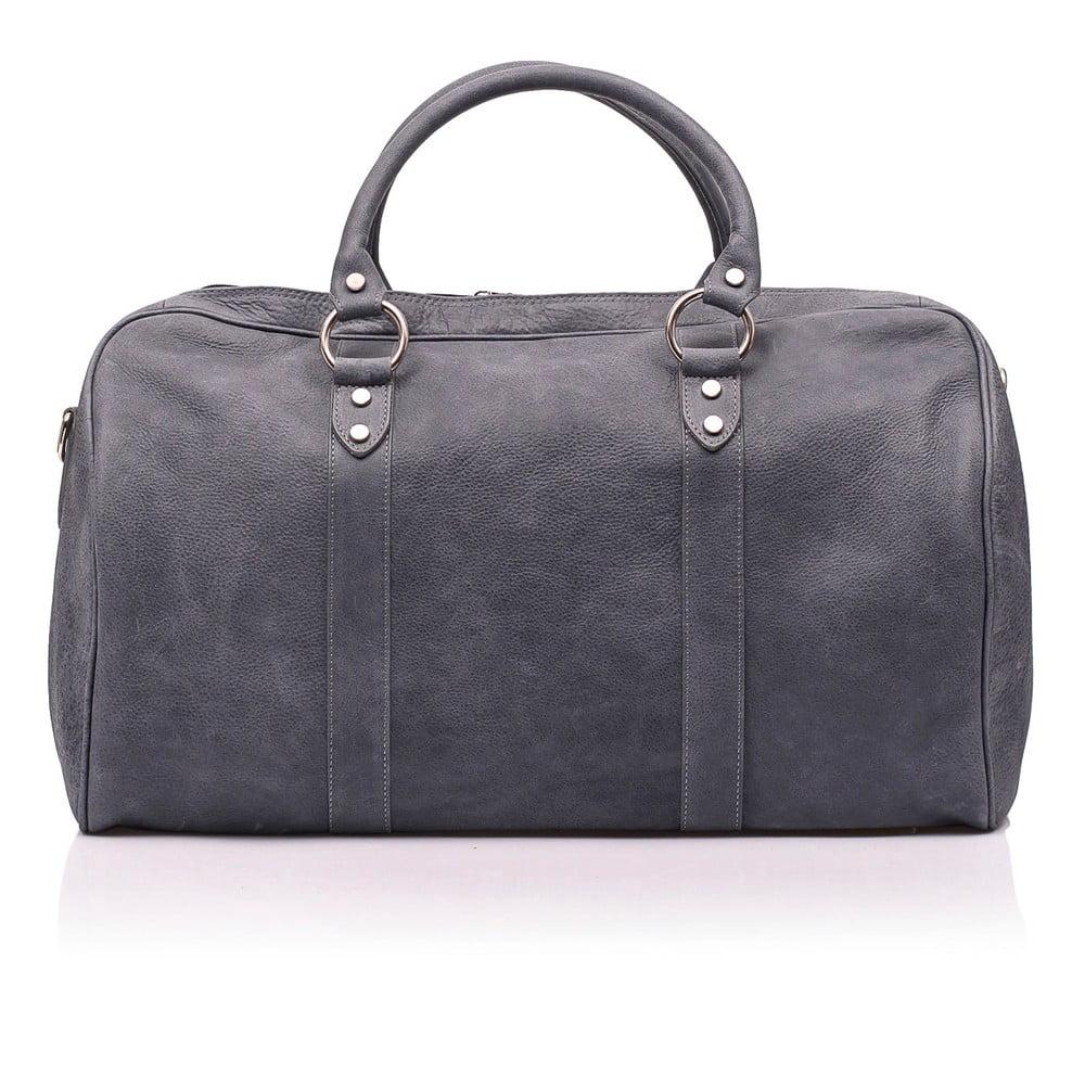 Tmavě šedá kožená cestovní taška Medici of Florence Enrico