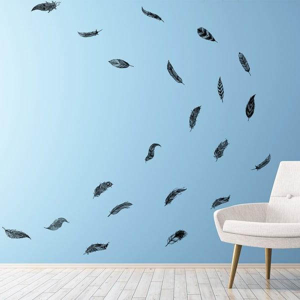 Set 12 autocolante Ambiance Boho Feathers