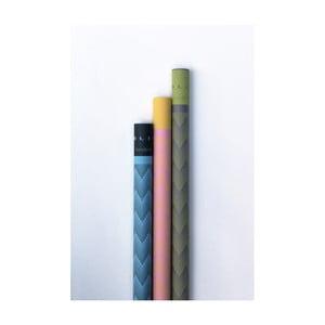Set 3 hârtii de împachetat Calico Joklin, Runtu, Raze