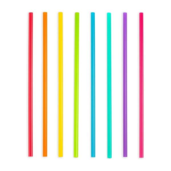 Zestaw 24 plastikowych słomek Kikkerland Party, dł. 37 cm
