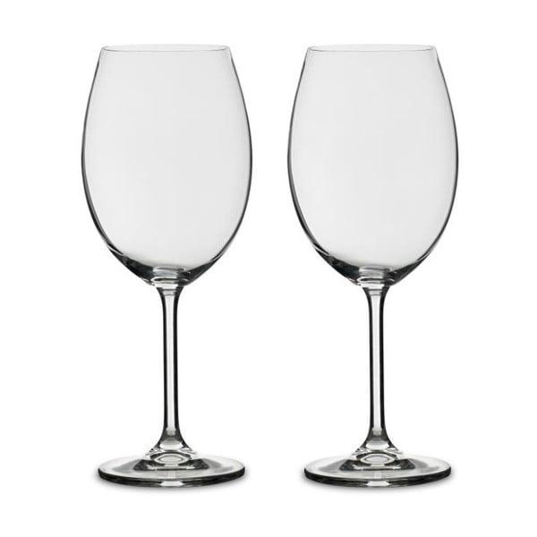 Sada 2 sklenic na červené víno z křišťálového skla Bitz Fluidum, 580 ml