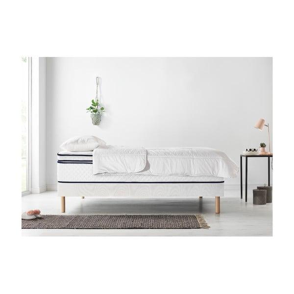 Komplet łóżka 2-osobowego, materaca i kołdry Bobochic Paris Simeo, 90x200 cm + 90x200 cm