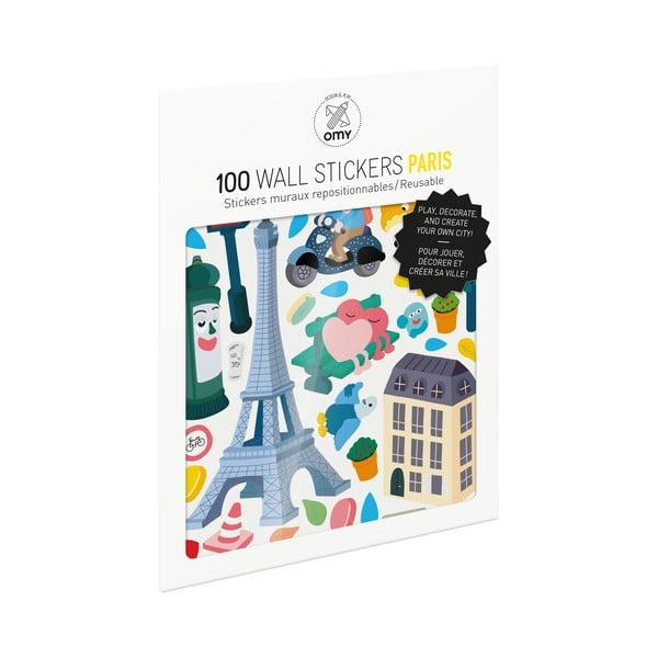 Sada samolepek OMY Paris, 100 ks