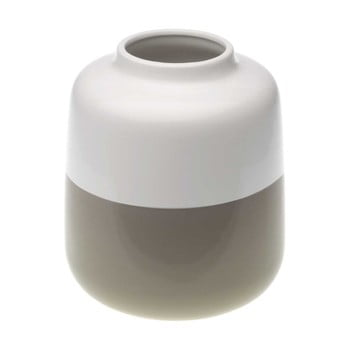 Vază din ceramică Versa Turno, înălțime 18,5 cm, maro-alb de la Versa