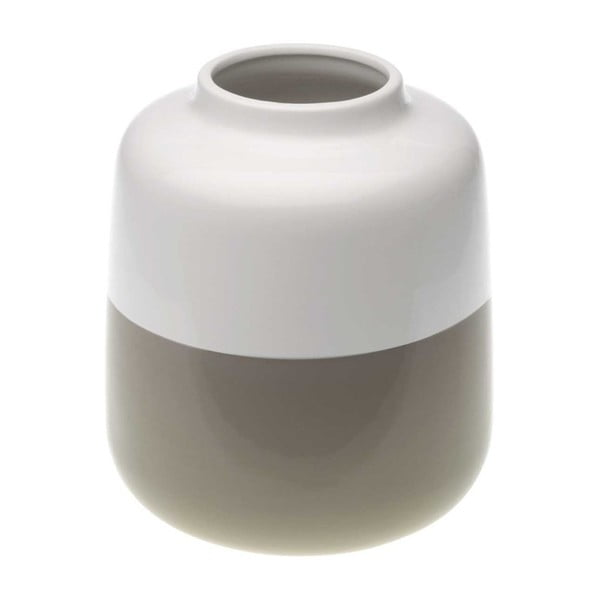 Hnědobílá keramická váza Versa Turno, výška 18,5 cm