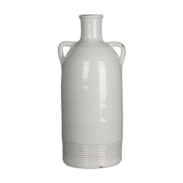 Keramická váza Sil White, 34x15 cm