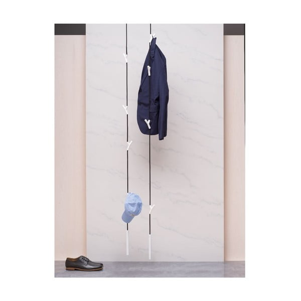 Doplňkový hák pro ukotvení věšáku do stěny, stříbrný