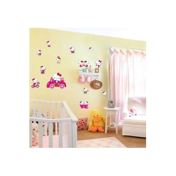 Dekorativní samolepka Hello Kitty, 27x33 cm
