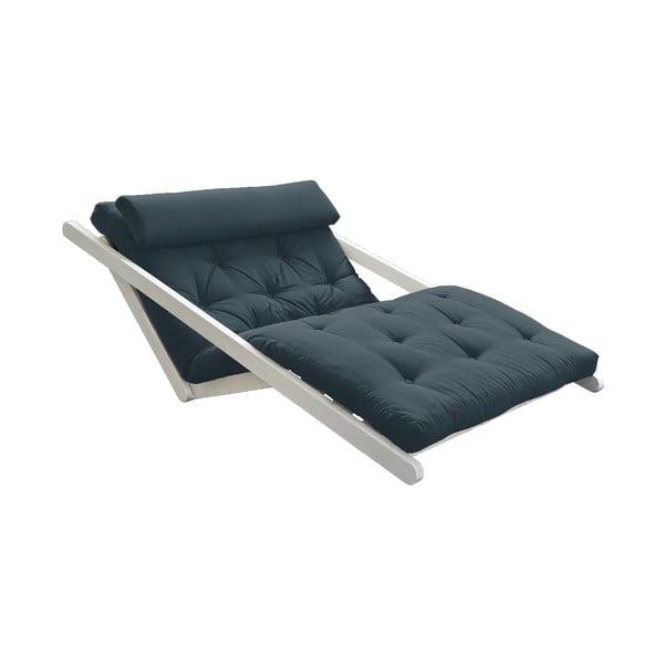 Canapea extensibilă Karup Design Figo White, albastru petorl