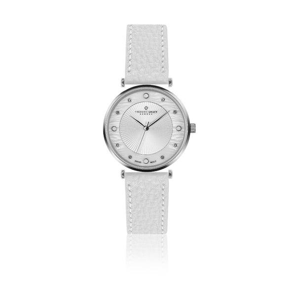 Dámske hodinky s bielym remienkom z pravej kože Frederic Graff Jungfrau