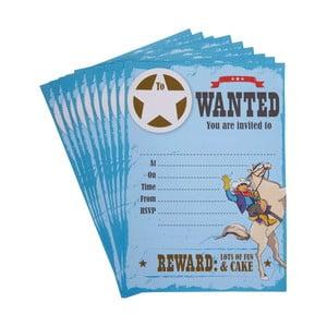 Sada 10 papírových pozvánek Neviti Wild West Cowboys