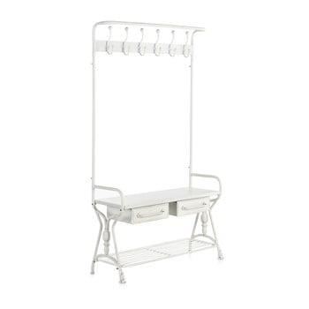 Cuier din metal cu două sertare Geese Industrial Style, alb imagine