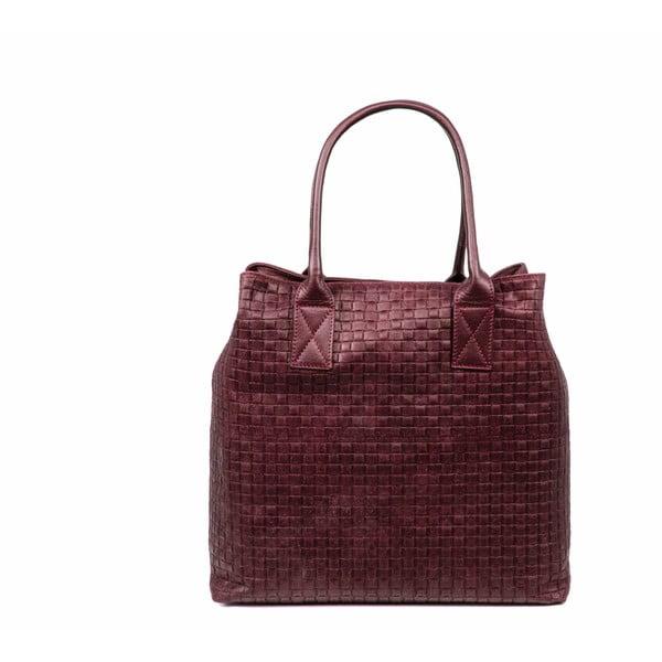 Kožená kabelka Dom, červená
