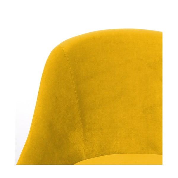 Žluté křeslo Hawke&Thorn Herman