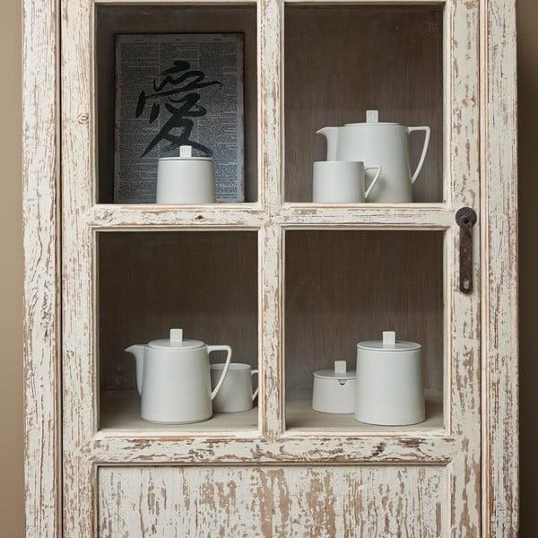 Bílá keramická konvice se sítkem na sypaný čaj Bredemeijer Lund, 1,5 l