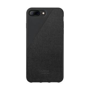 Černý obal na mobilní telefon pro iPhone 7 a 8 Plus Native Union Clic Canvas Case