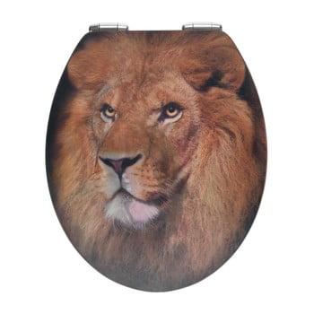 Capac WC din lemn 3D Wenko Lion, 44,5 x 38 cm de la Wenko