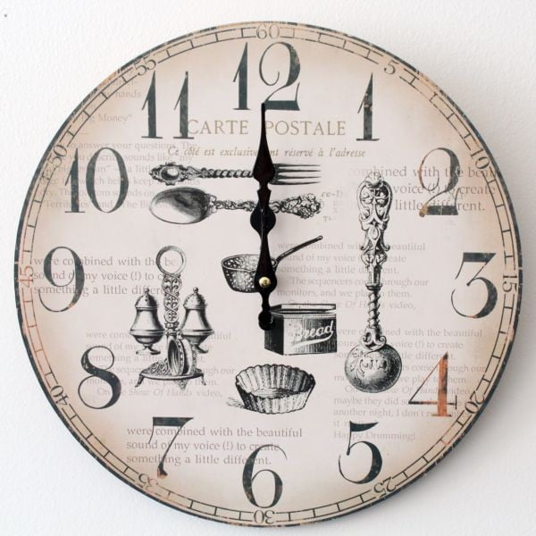 Vintage hodiny Carte Postale