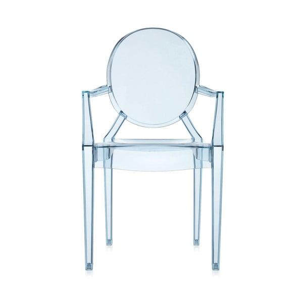 Židle Kartell Lou Lou Ghost, světle modrá