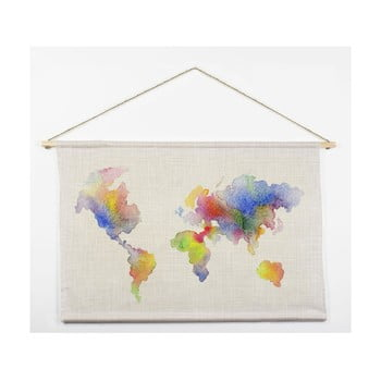 Tapiserie Really Nice Things Watercolor Map, 60 x 90 cm de la Really Nice Things