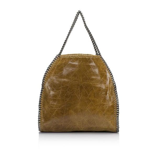 Kožená kabelka Markese 126 Cognac