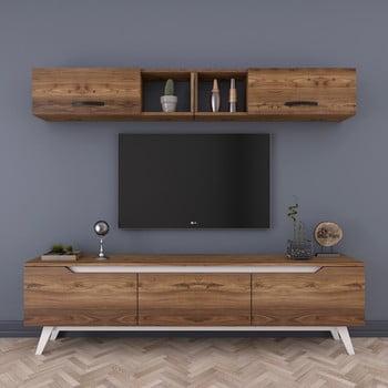 Set comodă TV și raft de perete cu 2 uși Wren Natural, natural imagine