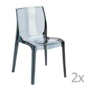 Sada 2 šedých  jídelních židlí Castagnetti Ophelia
