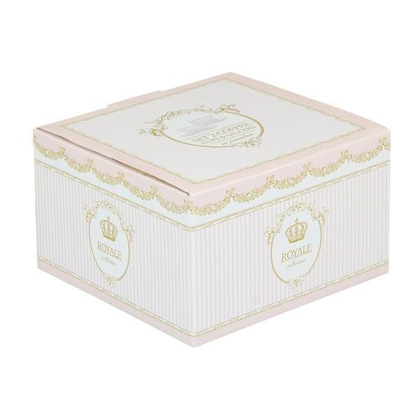 Set 2 cești cu farfurie din porțelan Santiago Pons Onio, alb