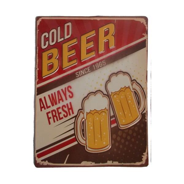 Cedule na stěnu Novita Cold Beer